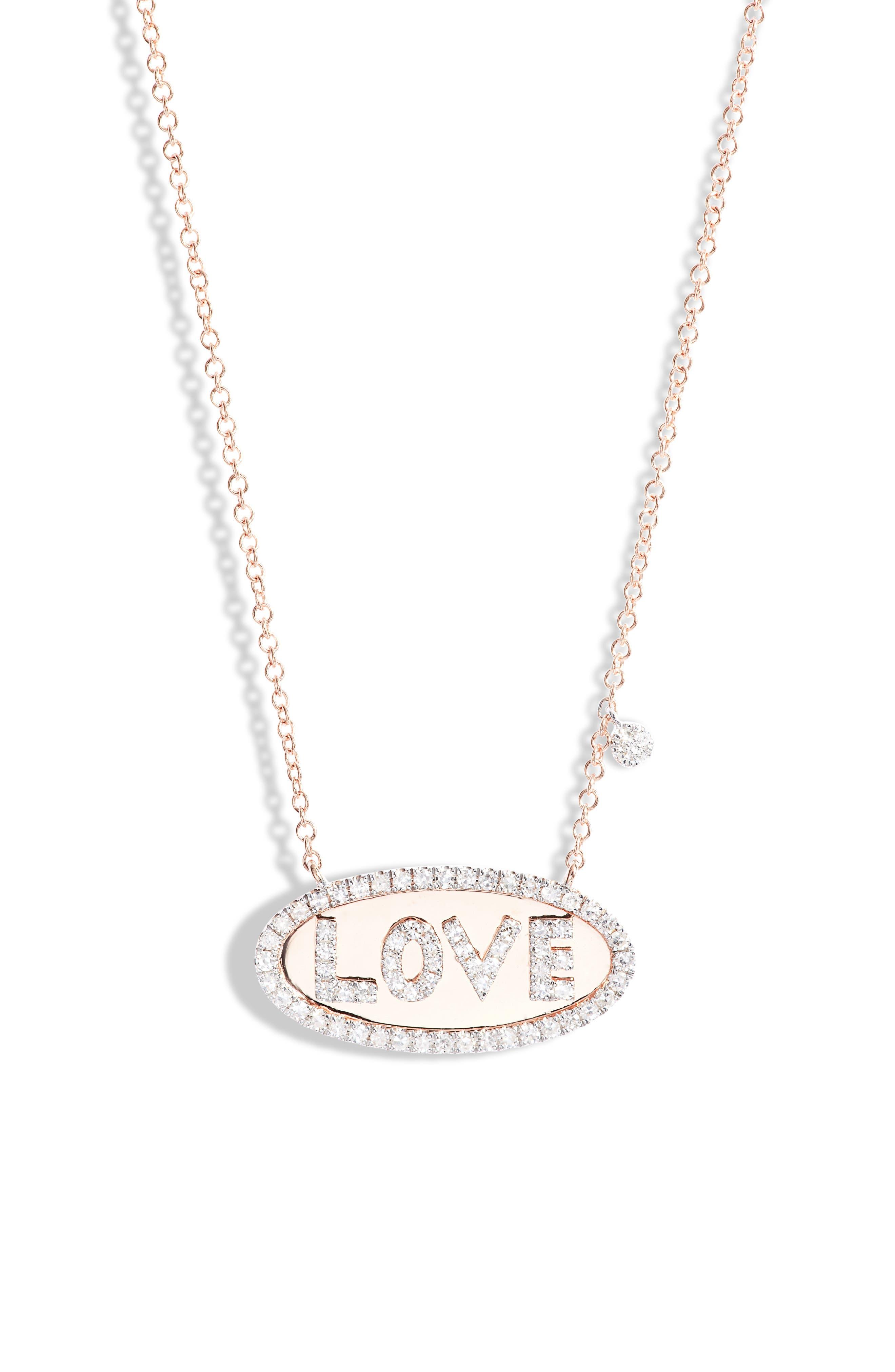 Love Diamond Pendant Necklace