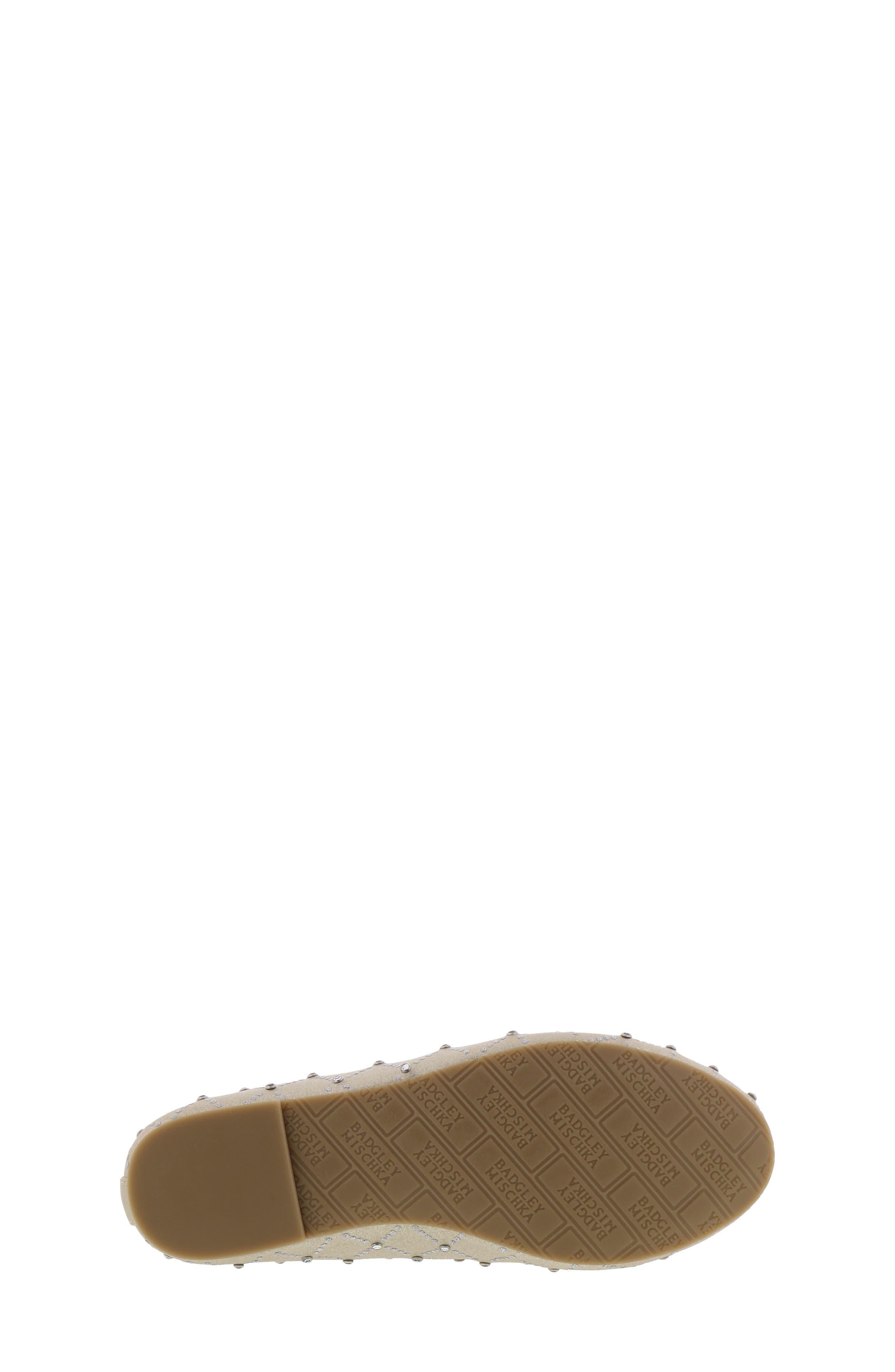 ,                             Badgley Mischka Amber Embellished Flat,                             Alternate thumbnail 6, color,                             LIGHT GOLD SHIMMER