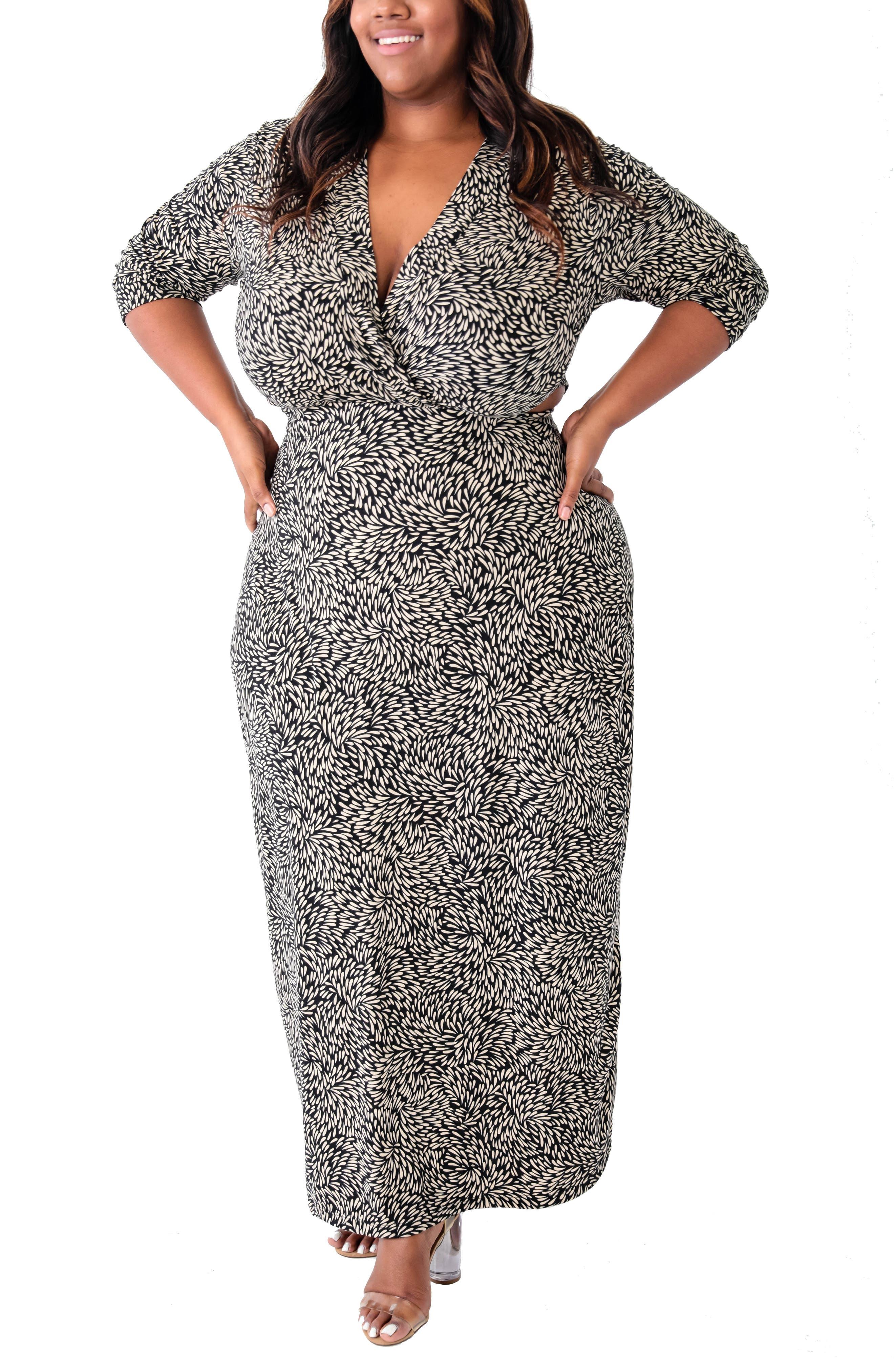 Cutout Knit Maxi Dress