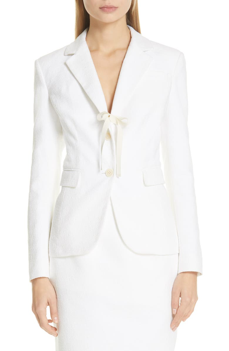 ALTUZARRA Tie Detail Two-Button Jacket, Main, color, 101