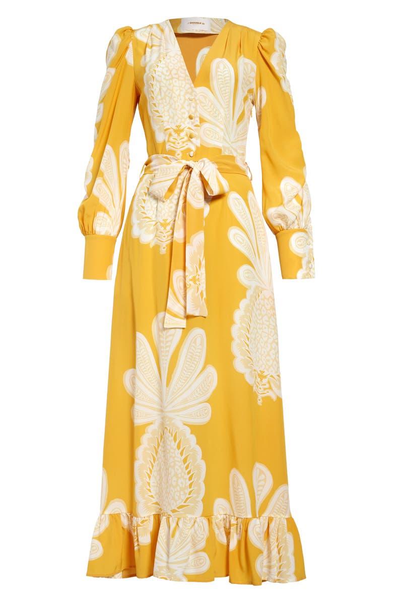 LA DOUBLEJ Super Smokin' Hot Long Sleeve Silk Dress, Main, color, 700