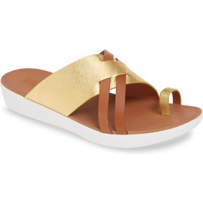 Fitflop Loopy Slide Sandal, Metallic (Nordstrom Exclusive)