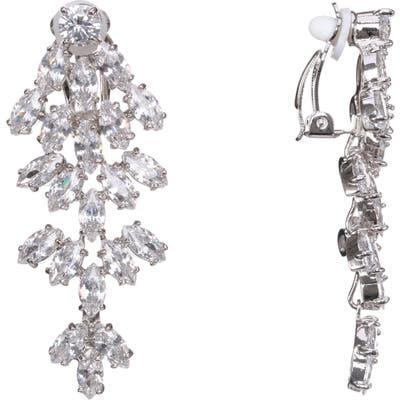 Nina Marquise Chandelier Clip Earrings