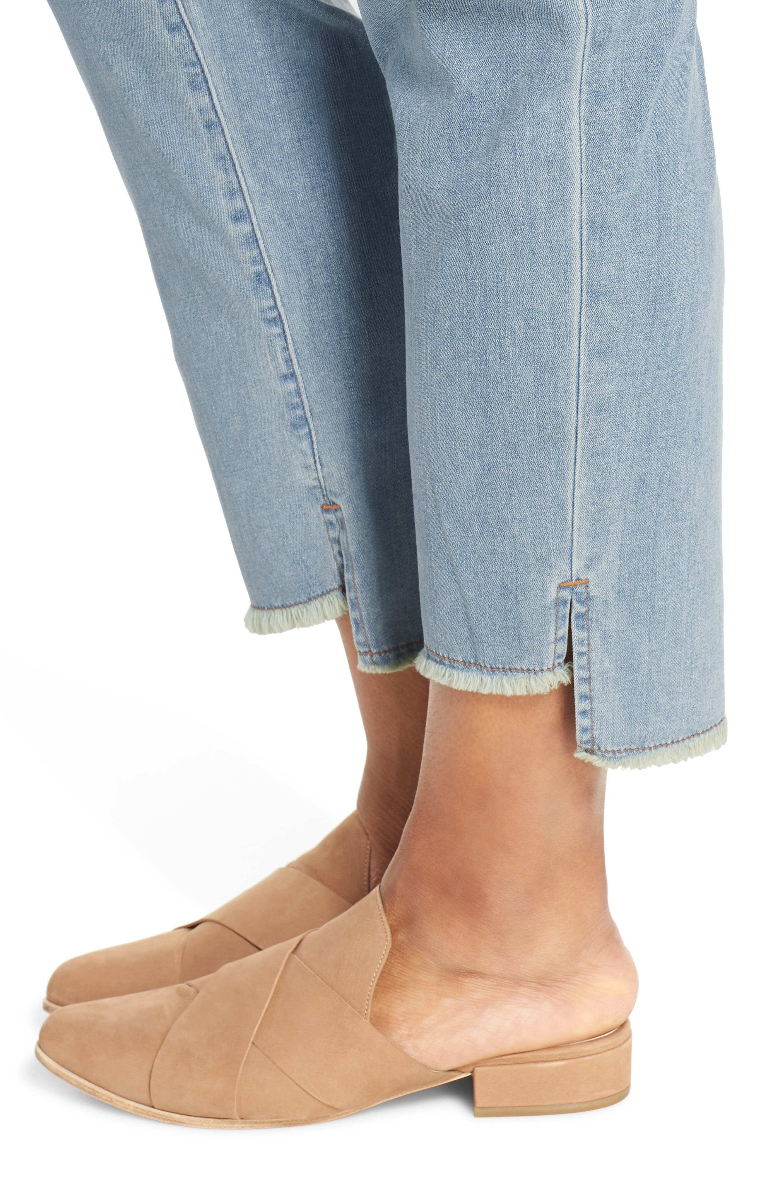 ,                             Fray Step Hem Ankle Skinny Jeans,                             Alternate thumbnail 5, color,                             472