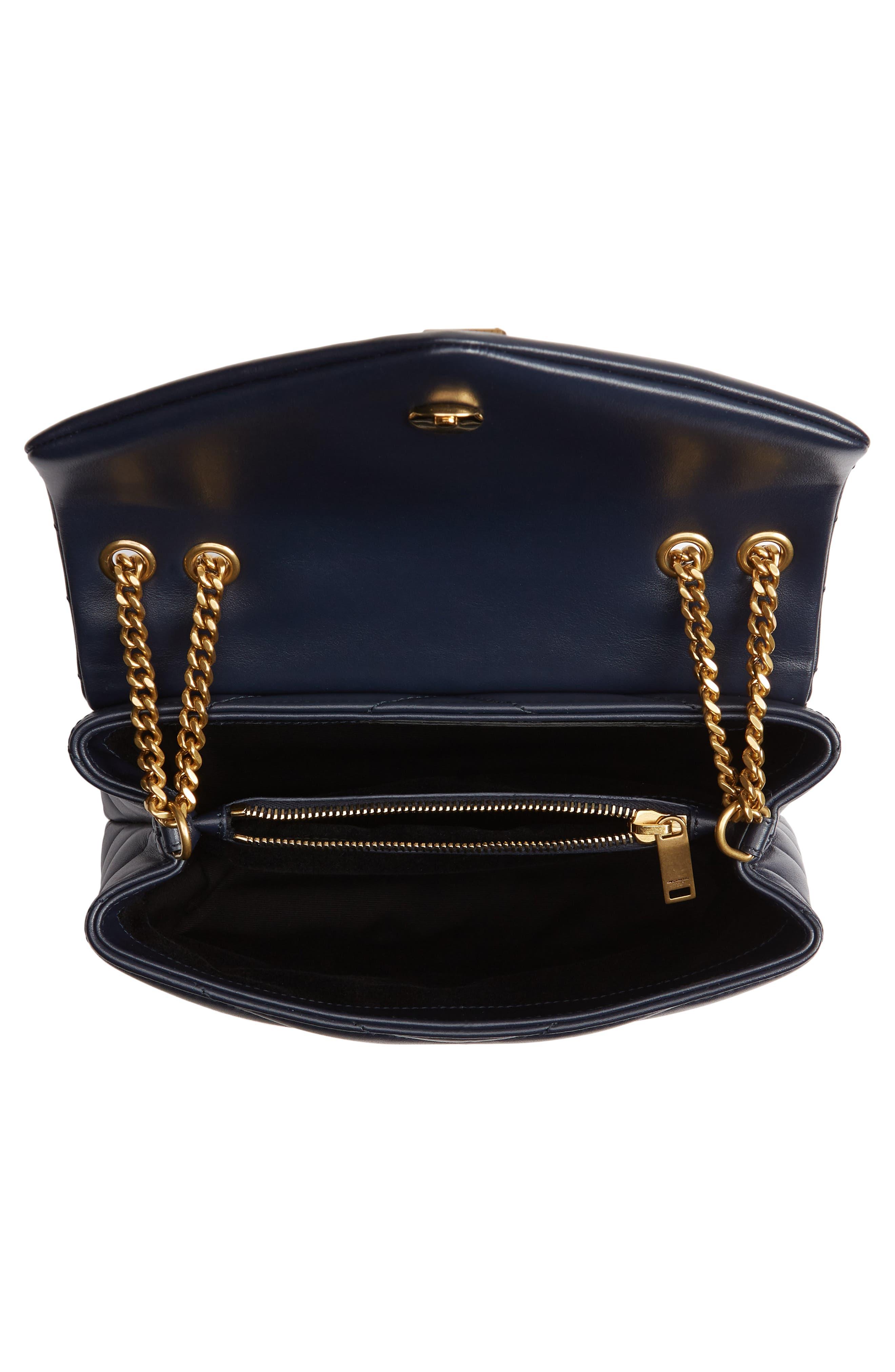 ,                             Small Loulou Leather Shoulder Bag,                             Alternate thumbnail 19, color,                             400