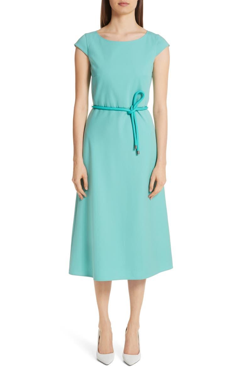 MAX MARA Opunzia Belted Midi Dress, Main, color, 400