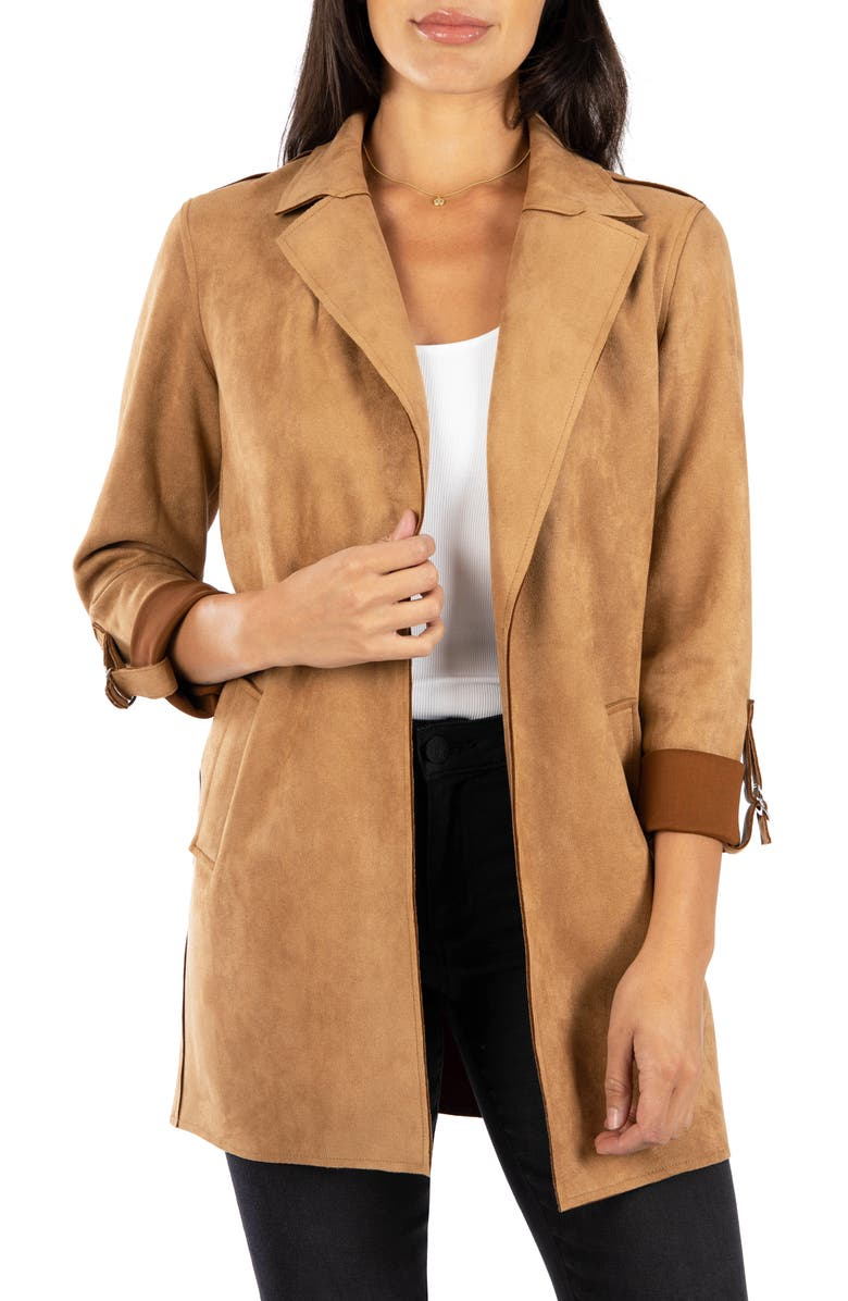 KUT FROM THE KLOTH Faux Suede Coat, Main, color, 200