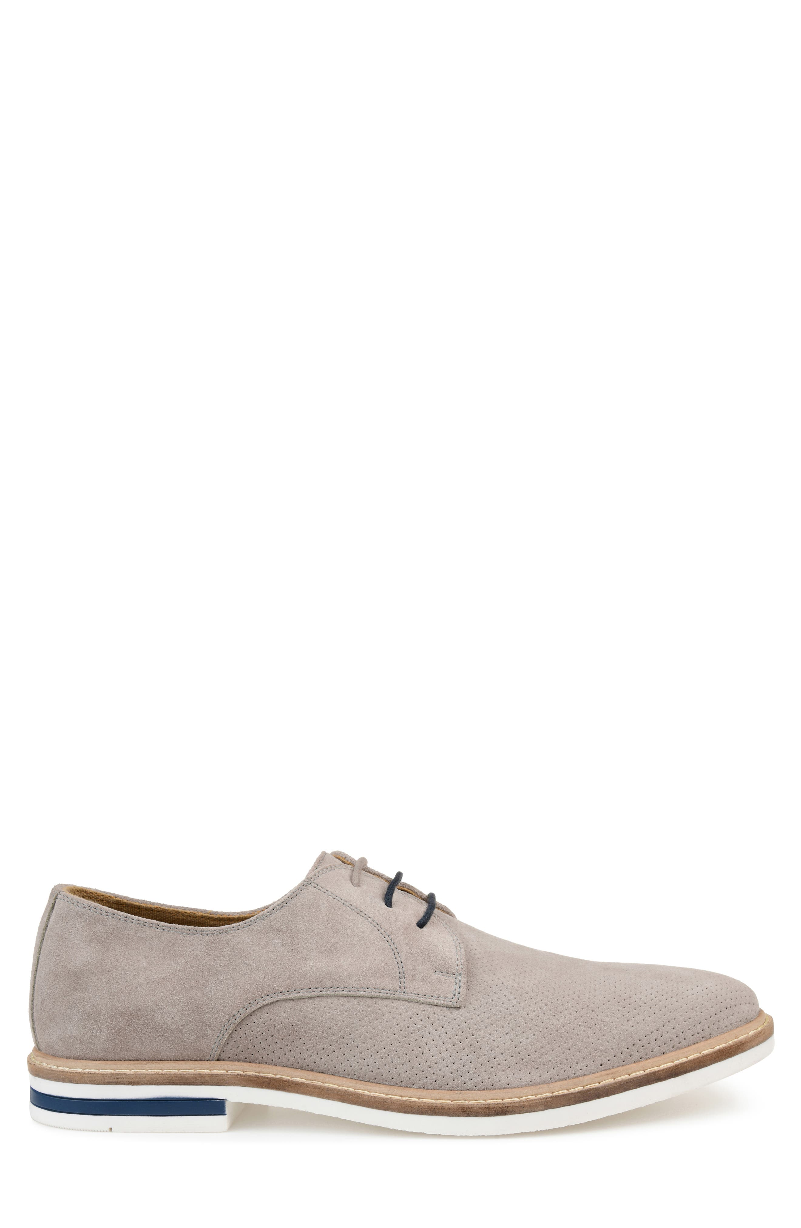 ,                             Garison Perforated Derby,                             Alternate thumbnail 3, color,                             GREY SUEDE