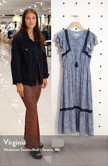 Elsie Lace Trim Flutter Midi Dress, sales video thumbnail