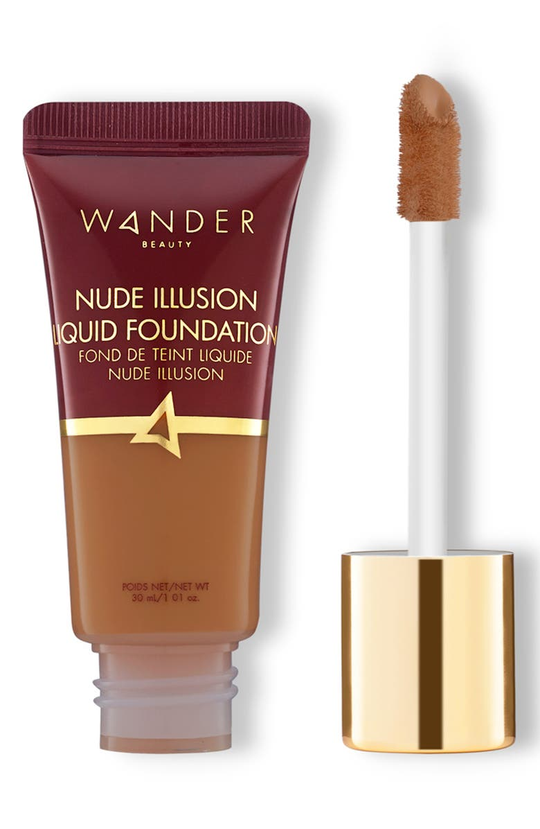 WANDER BEAUTY Nude Illusion Liquid Foundation, Main, color, RICH DEEP