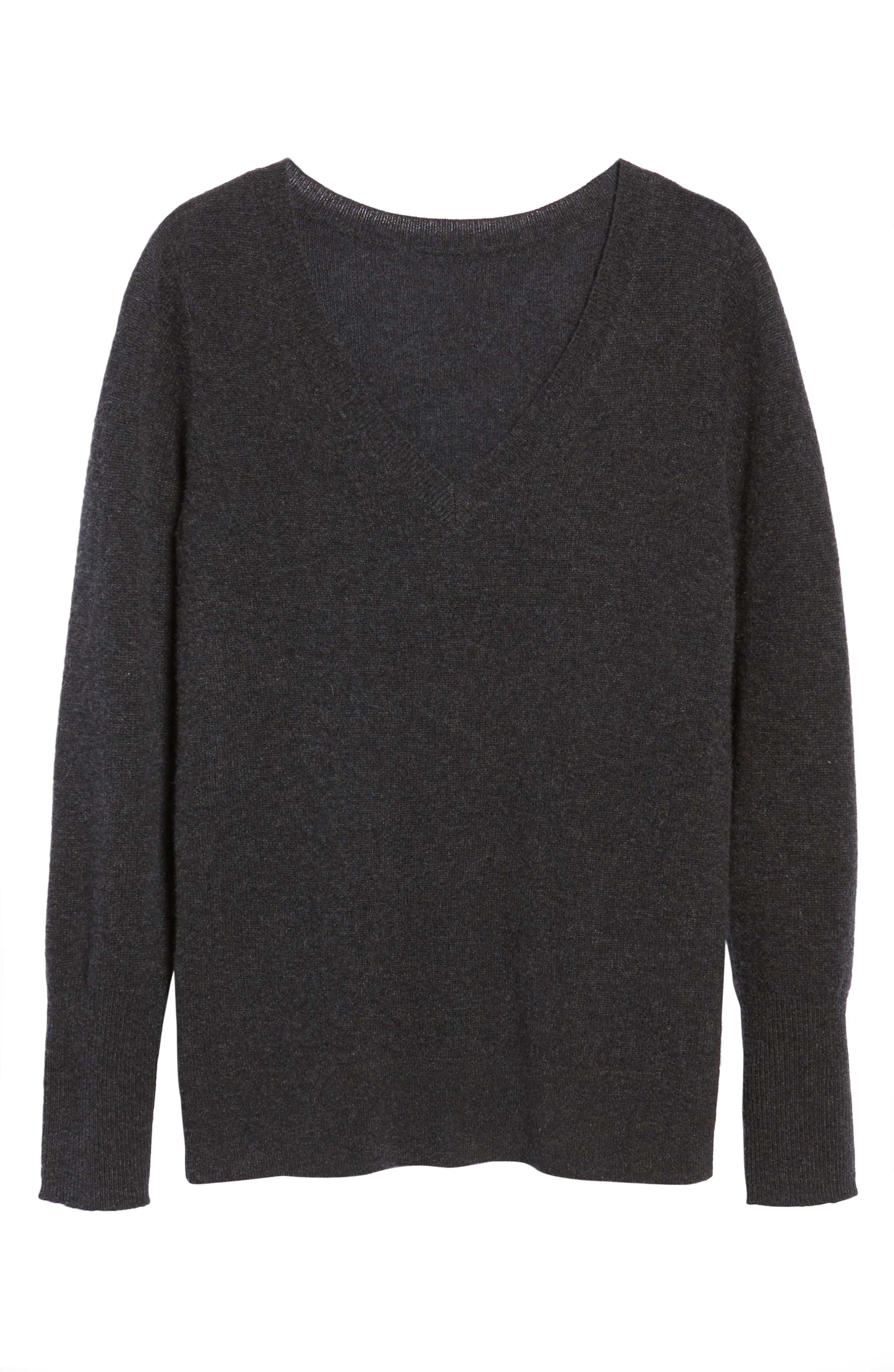 ,                             V-Neck Cashmere Sweater,                             Alternate thumbnail 86, color,                             021