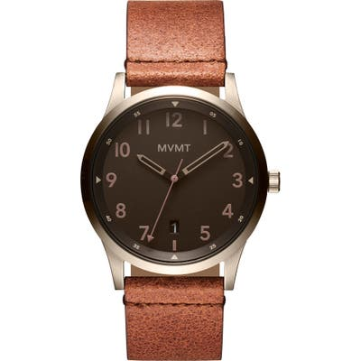 Mvmt Field Nomad Leather Strap Watch, 41mm