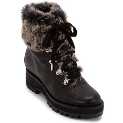 Dolce Vita Patsy Lace-Up Boot- Black