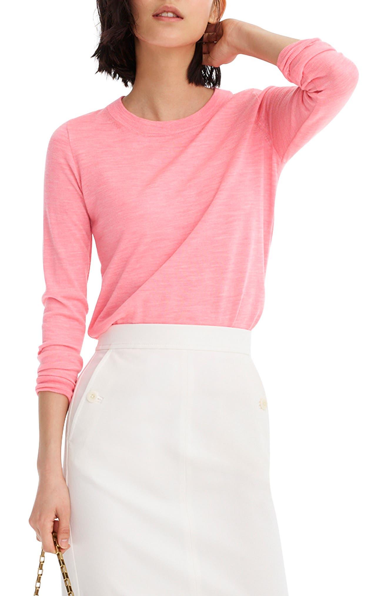 Plus Size J.crew Tippi Merino Wool Sweater, Pink