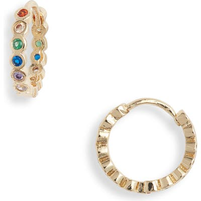 Jules Smith Rainbow Cubic Zirconia Hoop Earrings