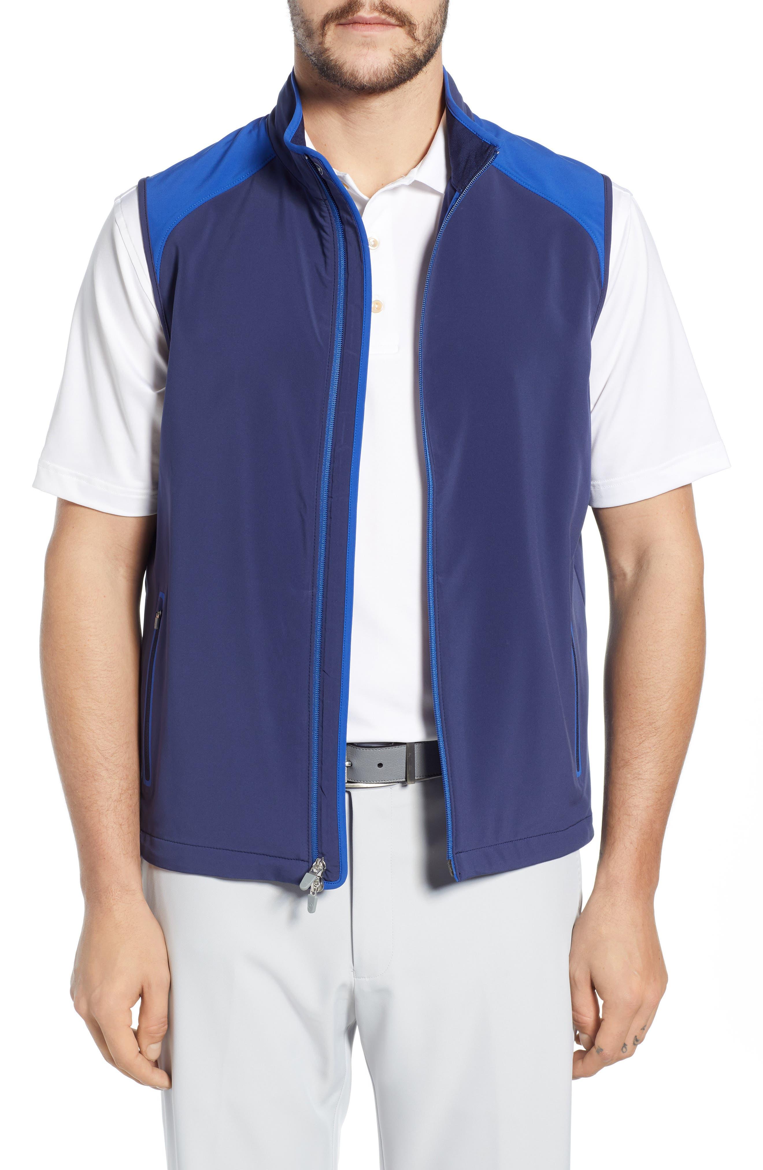 Peter Millar Zephyr Water Repellent Vest, Blue
