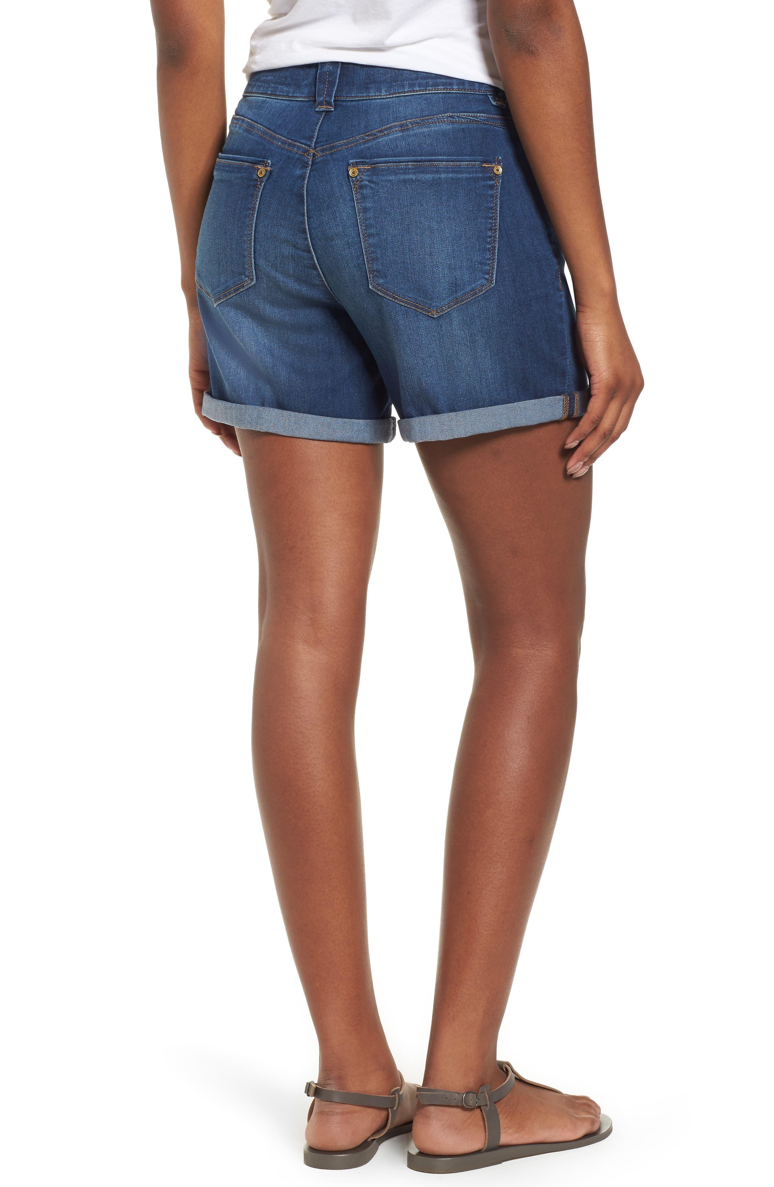 ,                             Ab-solution Cuffed Denim Shorts,                             Alternate thumbnail 2, color,                             BLUE