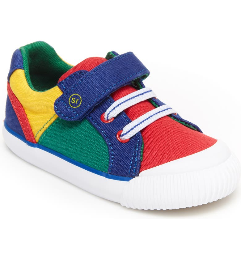 STRIDE RITE Parker Sneaker, Main, color, BLUE MULTI