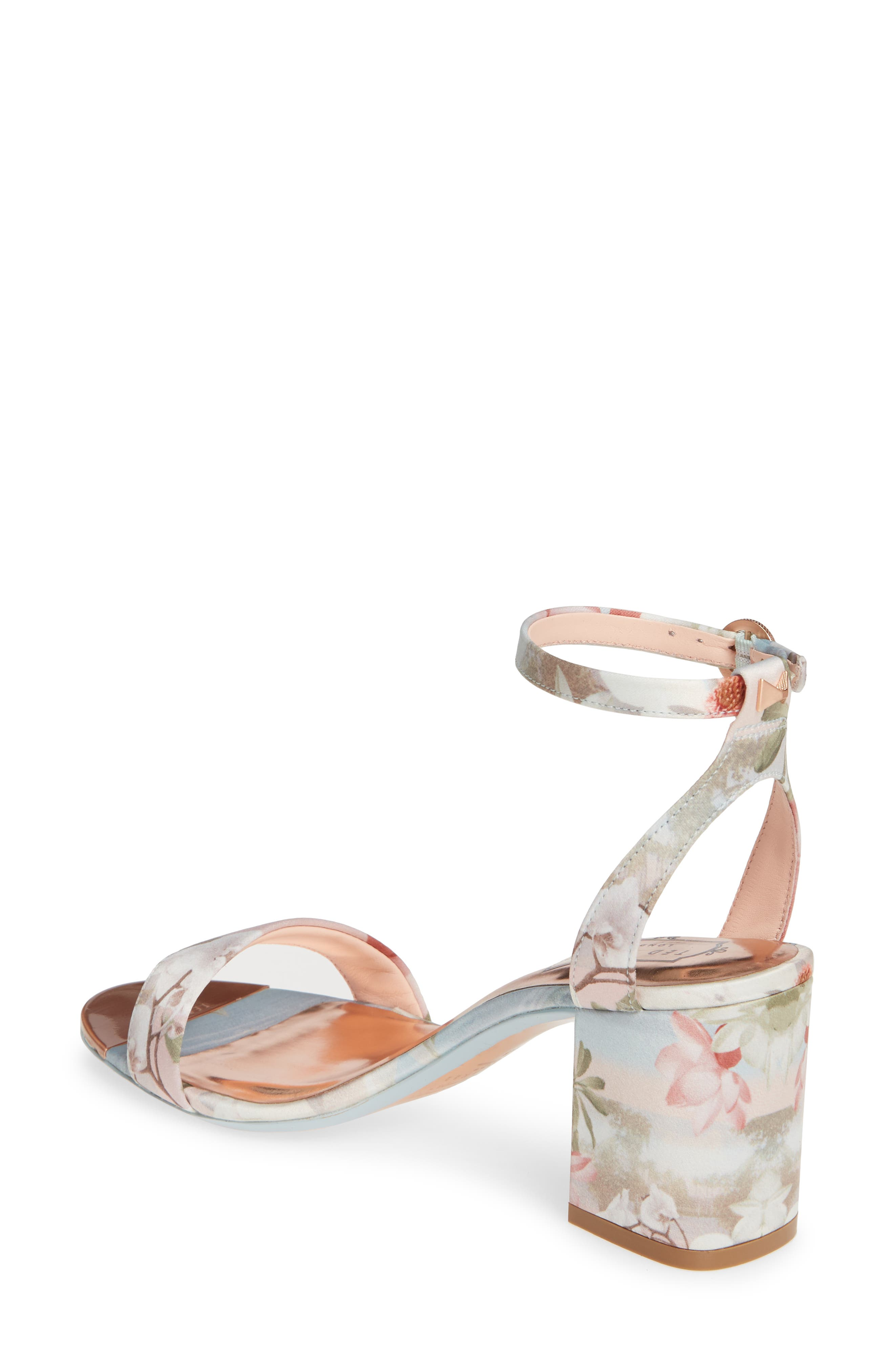 ,                             Rozie Block Heel Sandal,                             Alternate thumbnail 2, color,                             PALE BLUE SATIN