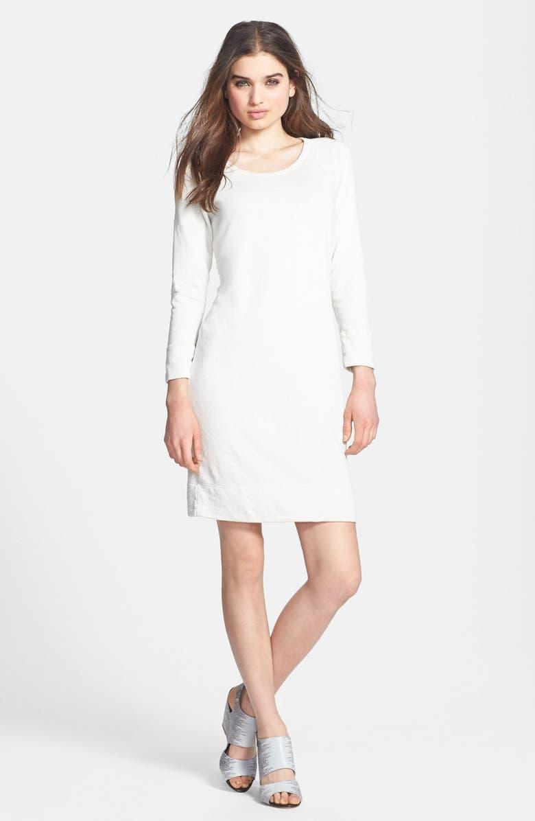 JAMES PERSE Raglan Sleeve Sweatshirt Dress, Main, color, 100