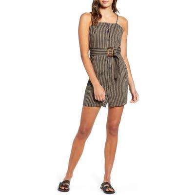 Lira Clothing India Sleeveless Stripe Minidress, Black