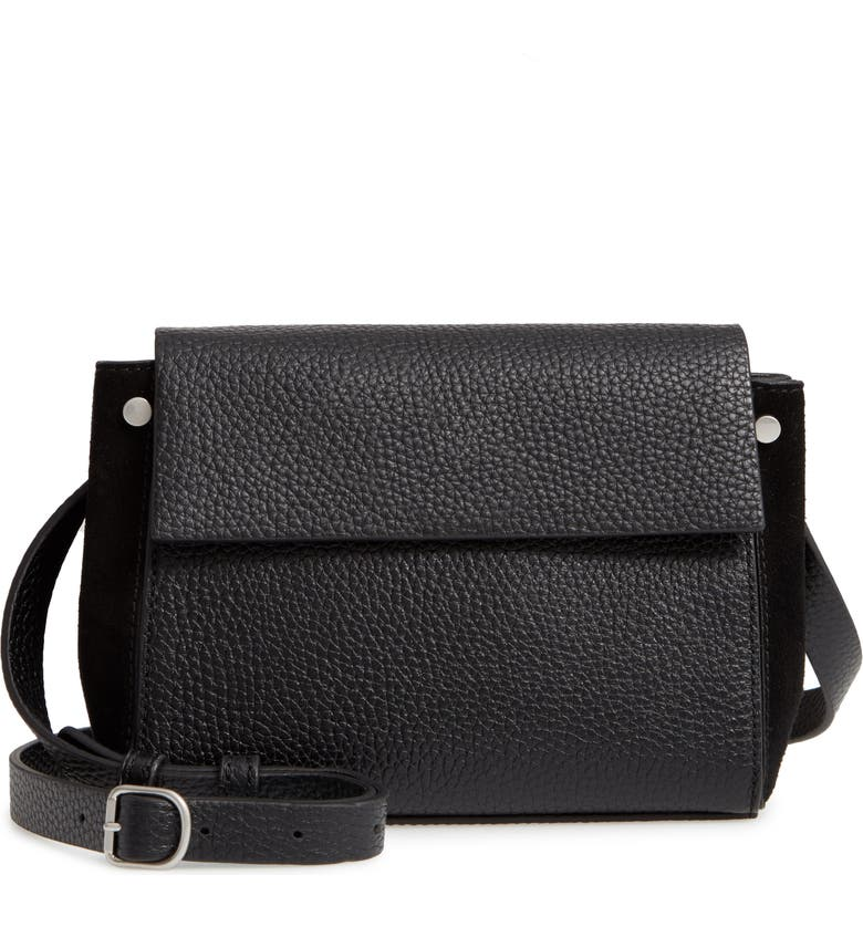 TREASURE & BOND Carly Small Leather Crossbody Bag, Main, color, 001