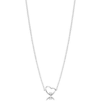 Pandora Asymmetrical Heart Of Love Pendant Necklace