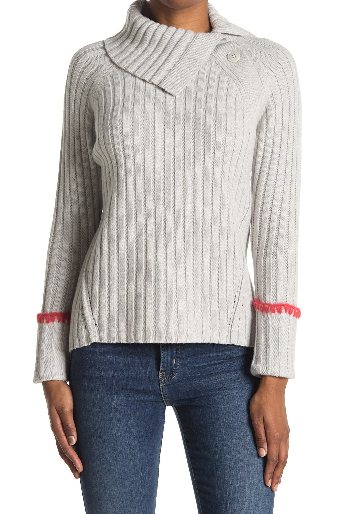 Image of Rebecca Taylor Cozy Ribbed Wool Blend Pullover
