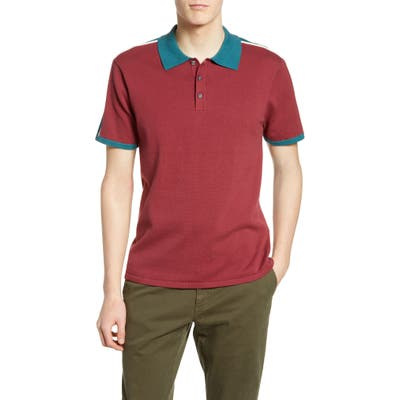 The Rail Colorblock Knit Polo, Red
