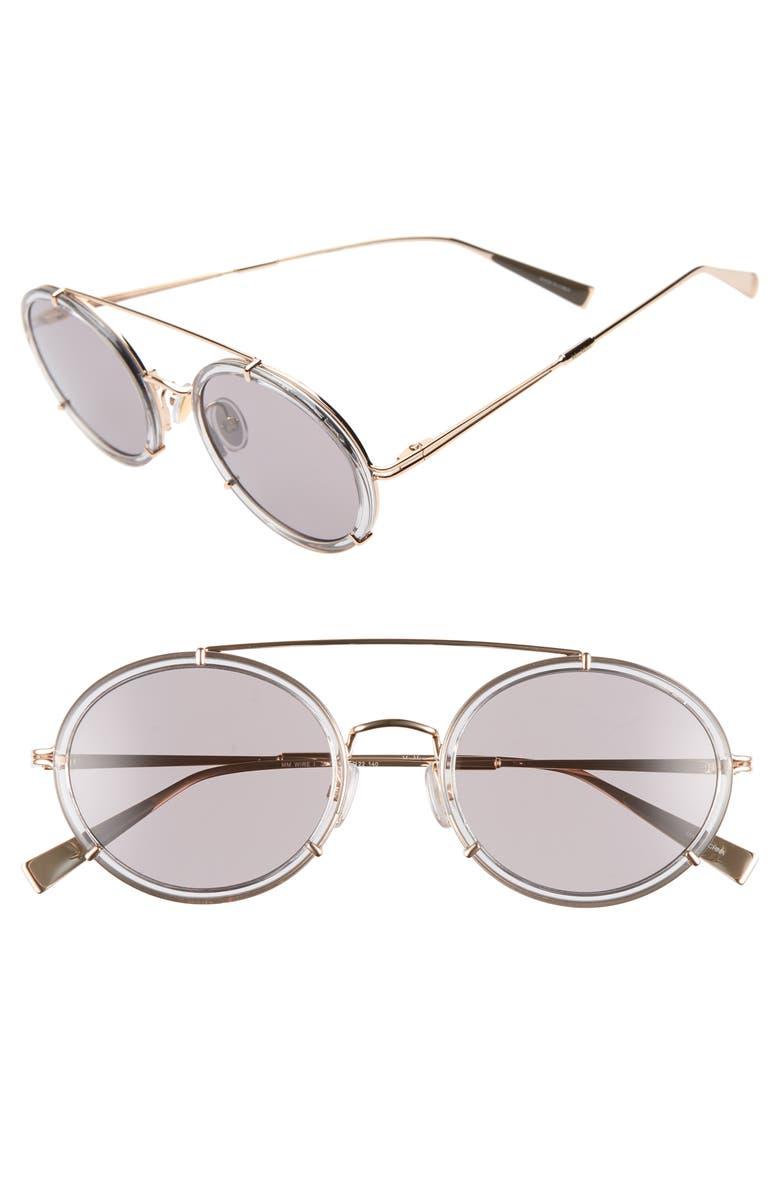 MAX MARA 51mm Round Aviator Sunglasses, Main, color, ANTIQUE GOLD