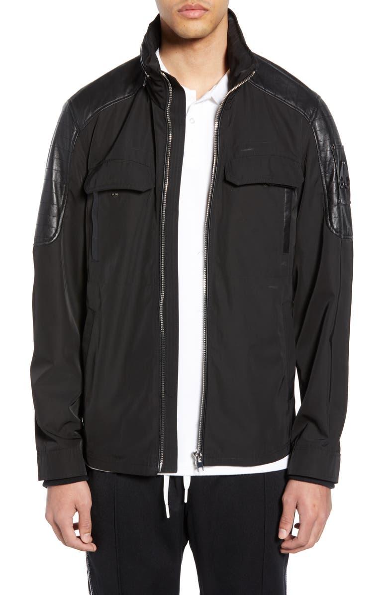 MOOSE KNUCKLES Saint-Michel Jacket, Main, color, BLACK
