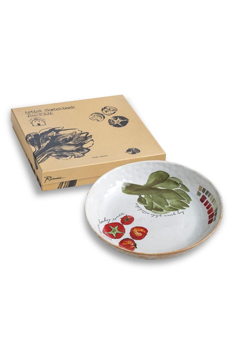 ROSANNA Artichoke Serving Bowl, Main, color, BEIGE/MULTICOLOR