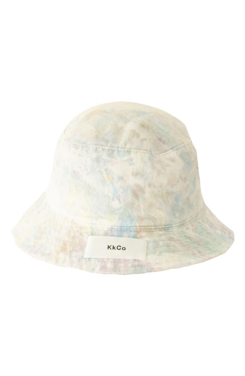 KKCO Marbled Dye Bucket Hat, Main, color, TIE DYE