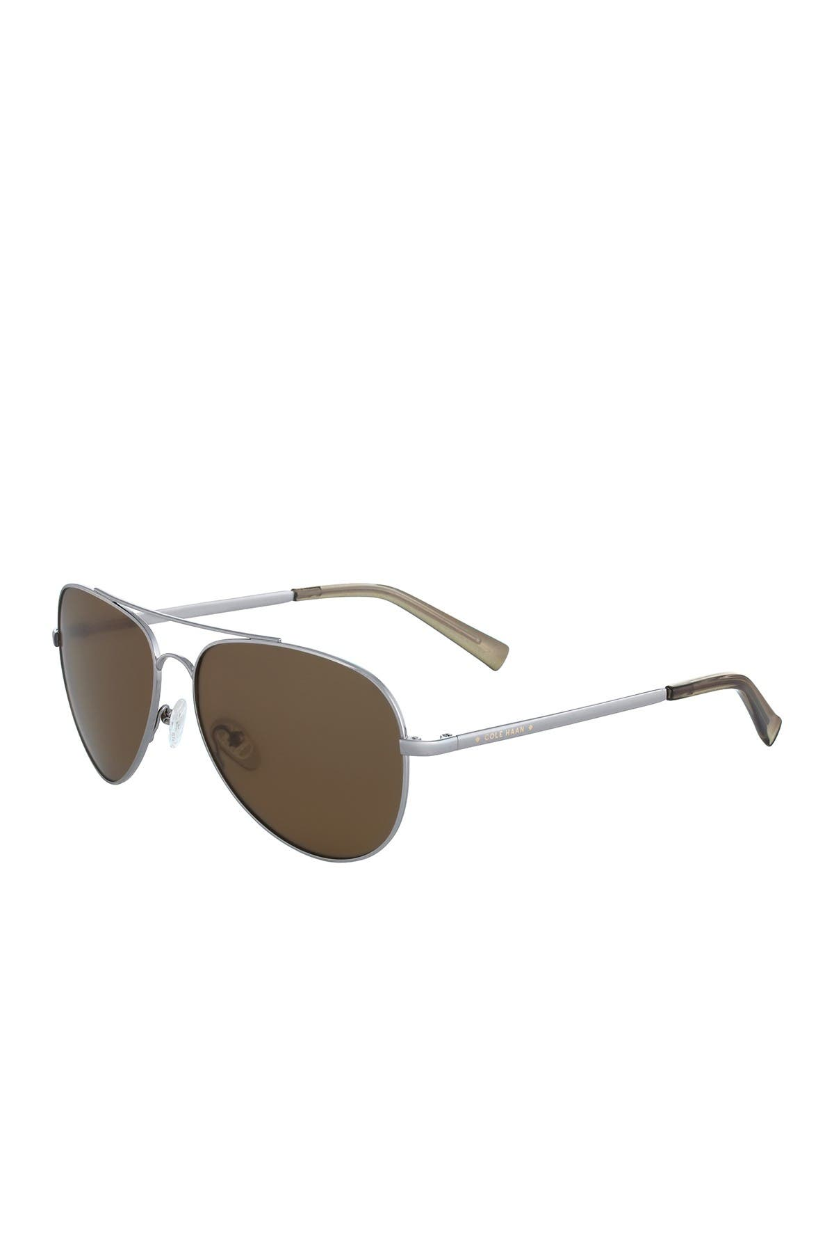 Image of Cole Haan 60mm Aviator Sunglasses