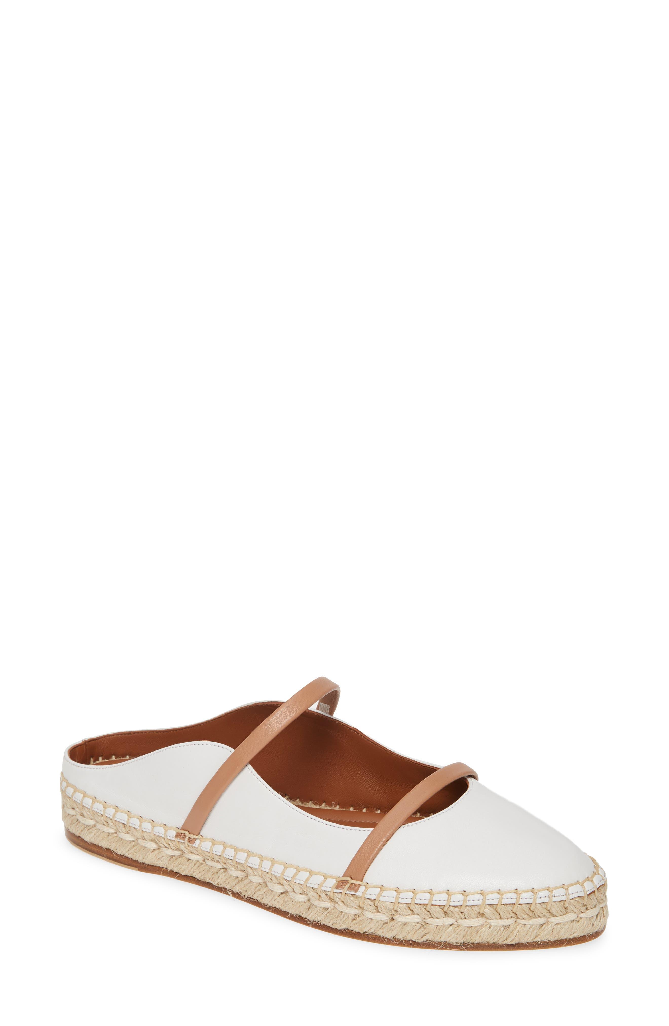 Malone Souliers Siena Espadrille Flat - White