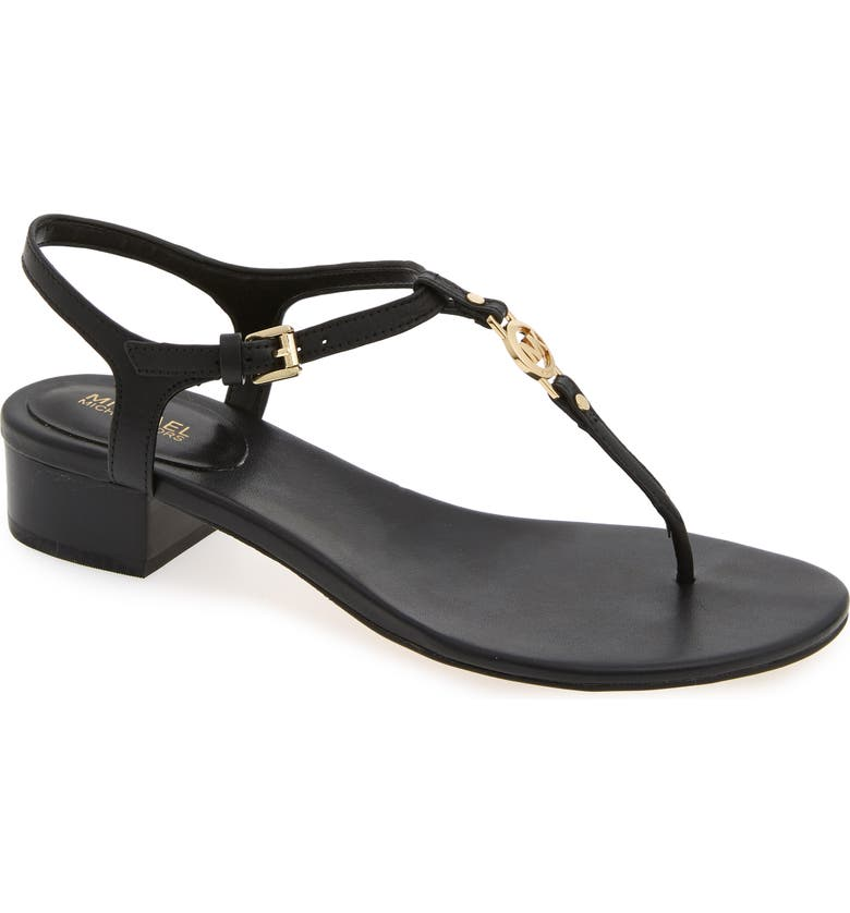 MICHAEL MICHAEL KORS Cayla T-Strap Sandal, Main, color, 001
