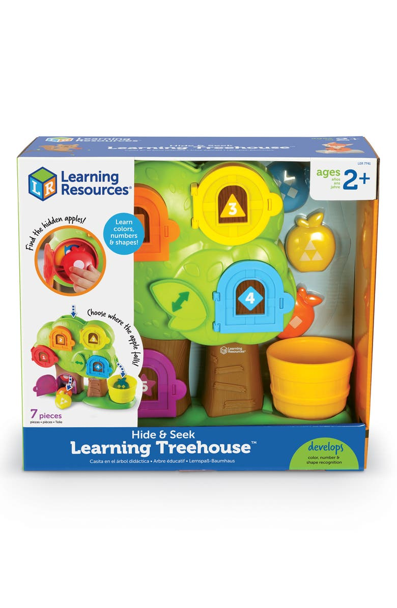 LEARNING RESOURCES Hide & Seek Learning Tree House Toy, Main, color, MULTI