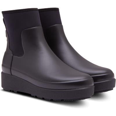 Hunter Original Refined Creeper Chelsea Boot, Black