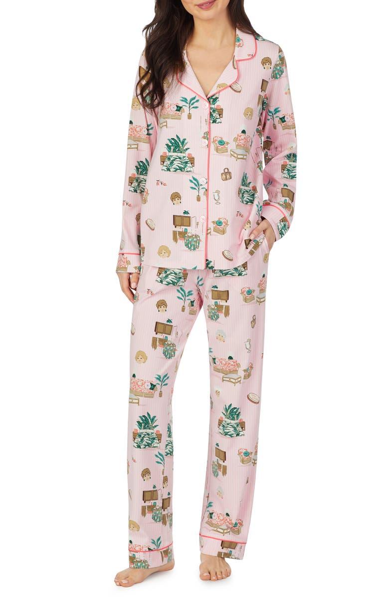 BEDHEAD PAJAMAS Classic Stretch Organic Cotton Pajamas, Main, color, GOLDEN GIRLS