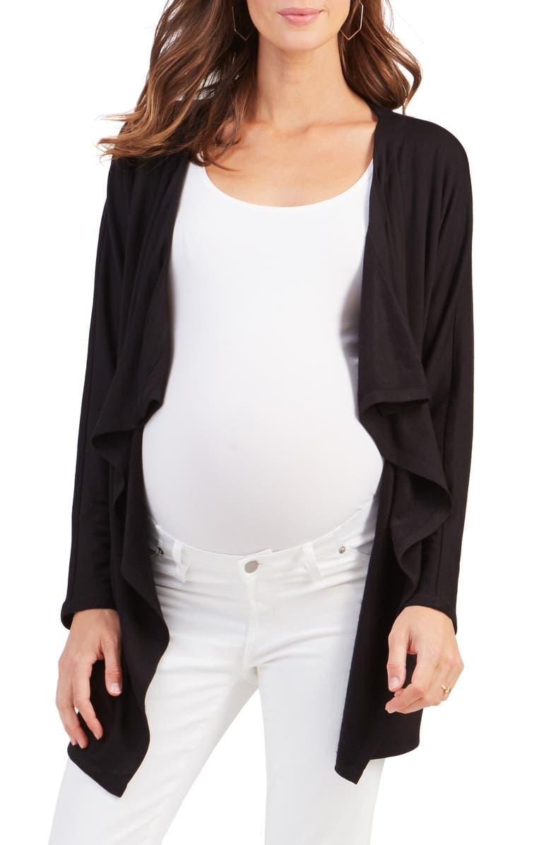 INGRID & ISABEL<SUP>®</SUP> Cozy Maternity/Nursing Cardigan, Main, color, 001