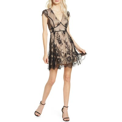 Lulus Liano Lace Minidress, Black