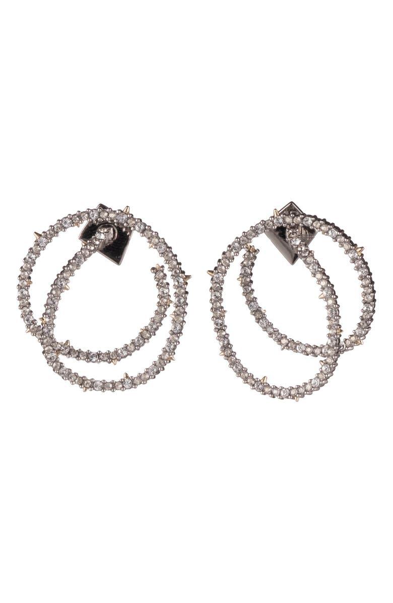 ALEXIS BITTAR Crystal Encrusted Coil Link Earrings, Main, color, 040
