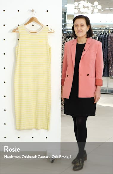 Stripe Sleeveless Midi Tank Dress, sales video thumbnail