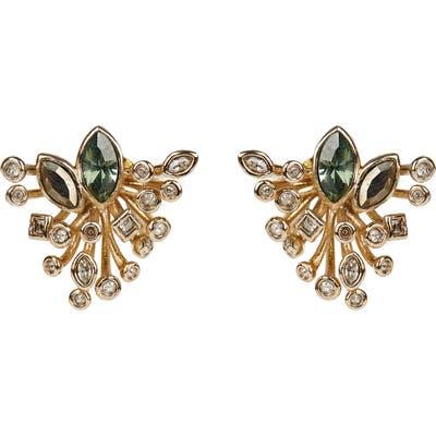 Alexis Bittar Navette Crystal Burst Stud Earrings