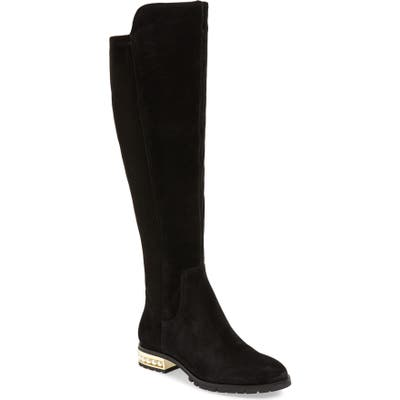 Karl Lagerfeld Paris Sutton Over The Knee Boot- Black