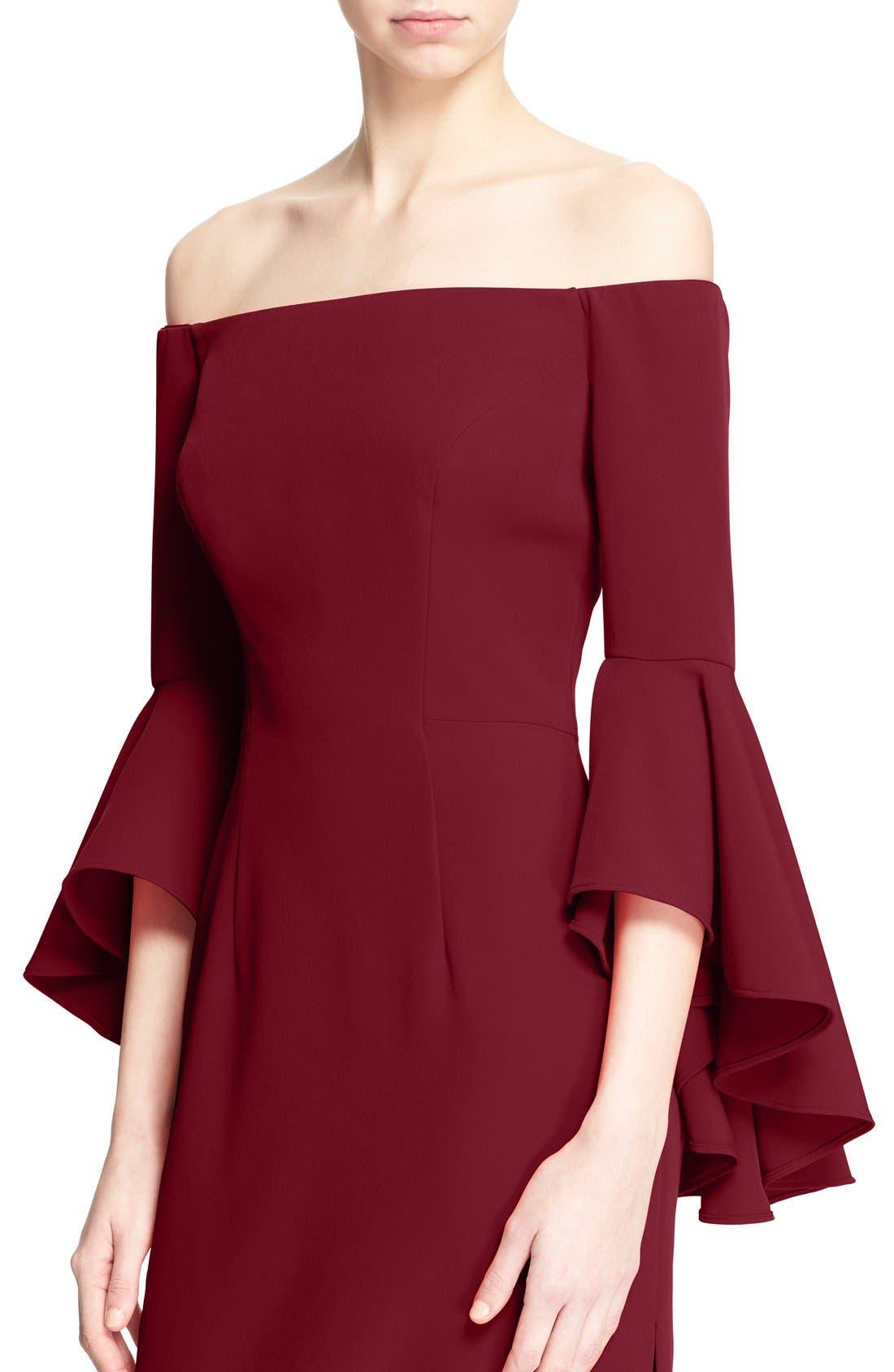 ,                             Selena Off the Shoulder Midi Dress,                             Alternate thumbnail 52, color,                             507
