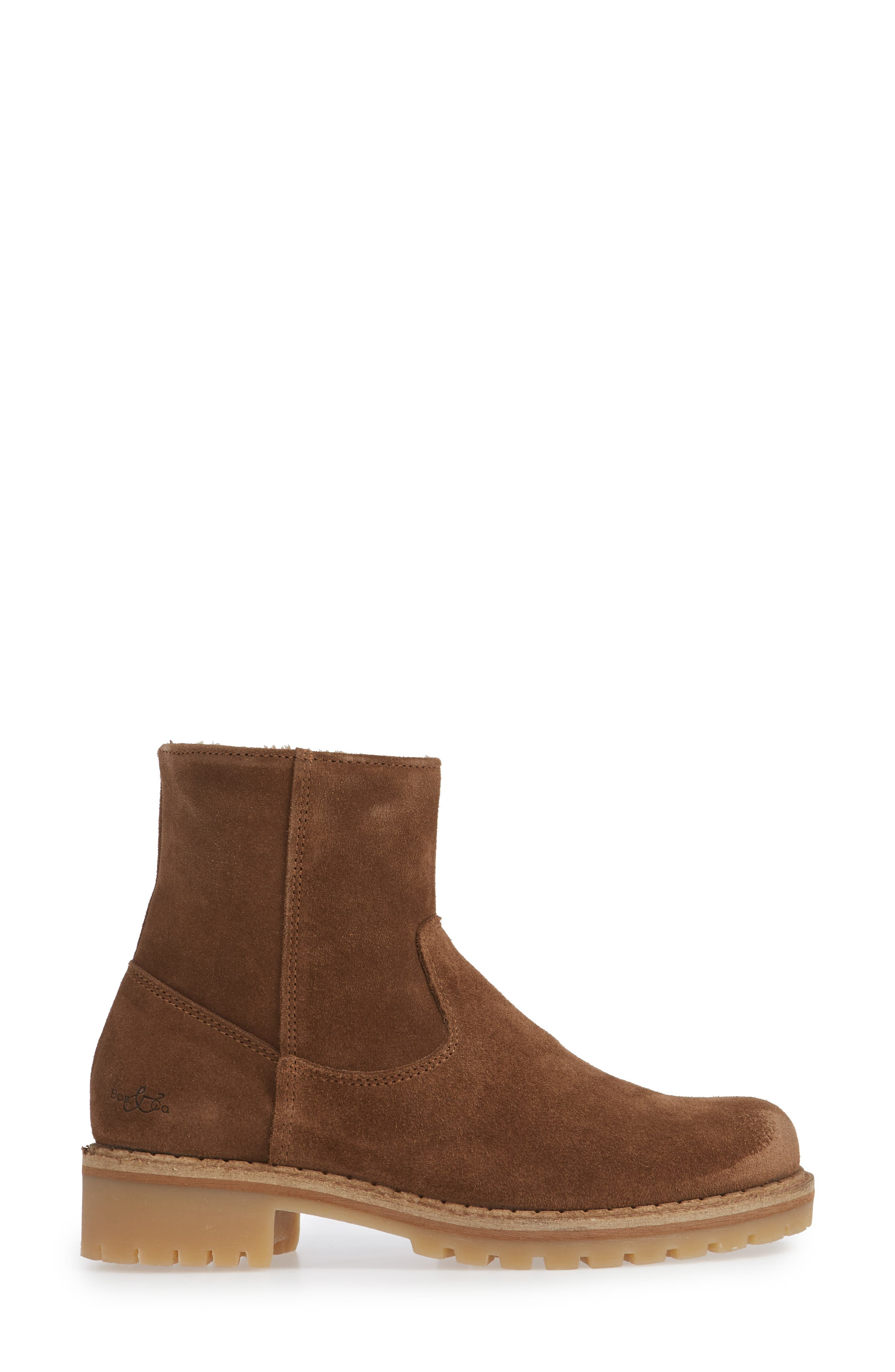 ,                             Host Faux Fur Lined Boot,                             Alternate thumbnail 3, color,                             TAN SUEDE