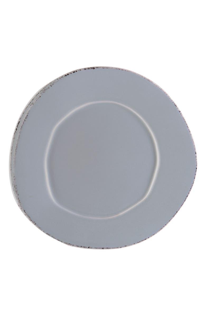 VIETRI Lastra Stoneware Salad Plate, Main, color, GRAY