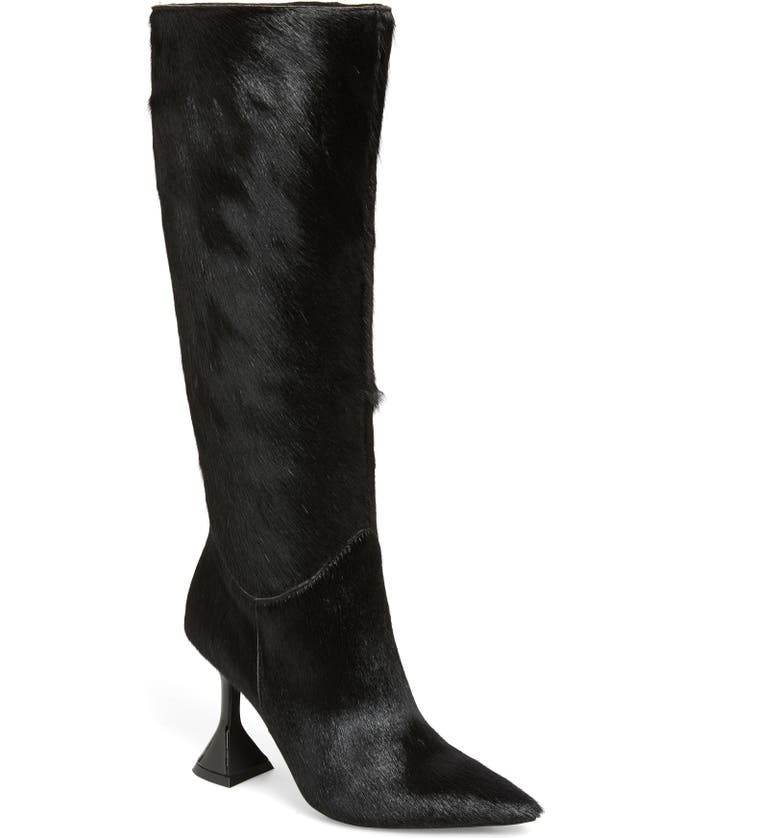 JEFFREY CAMPBELL Entity Genuine Calf Hair Knee High Boot, Main, color, 001