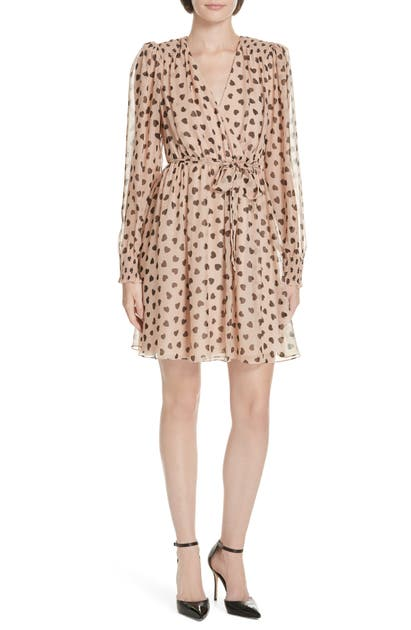 Kate Spade HEARTBEAT SILK FAUX WRAP DRESS